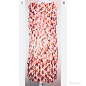 Ann Taylor Sleeveless Tiered Dress  Sz. 14